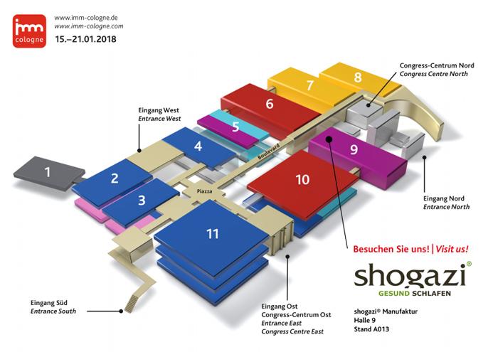 IMM 2018 Hallenplan - shogazi® Manufaktur