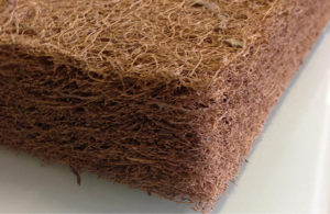 Futonmatratze aus Schichten mit Kokos und Latex