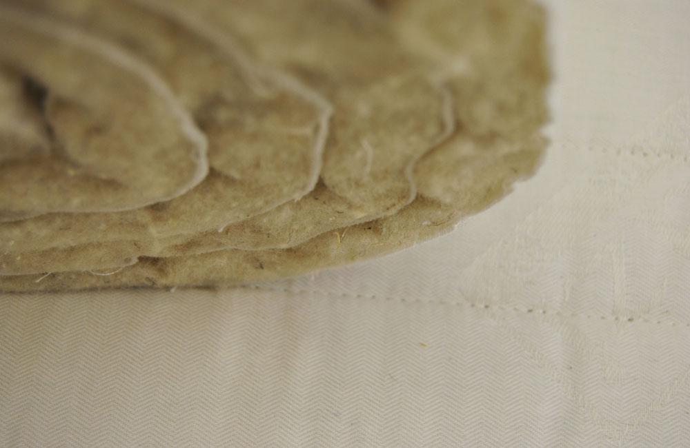 Bezug für Matratzen aus Drell mit Schurwoll-Steppung
